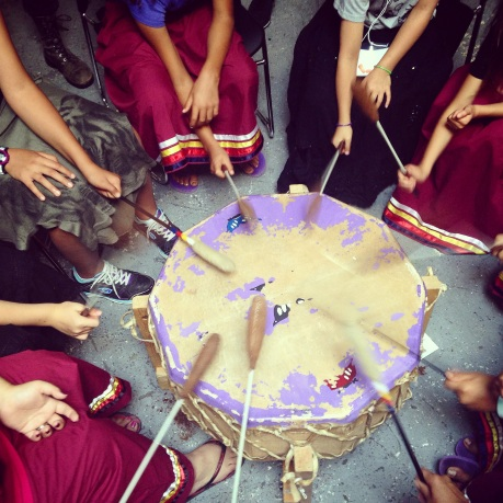 The UNYA Women's drumming group workshop